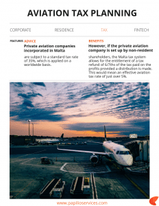 Aviation Tax Planning | Papilio Services Limited