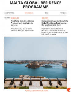 Malta Global Residence Programme | Papilio Services Limited