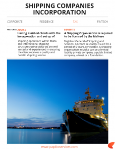 Shipping Companies Incorporation   Papilio Services Limited