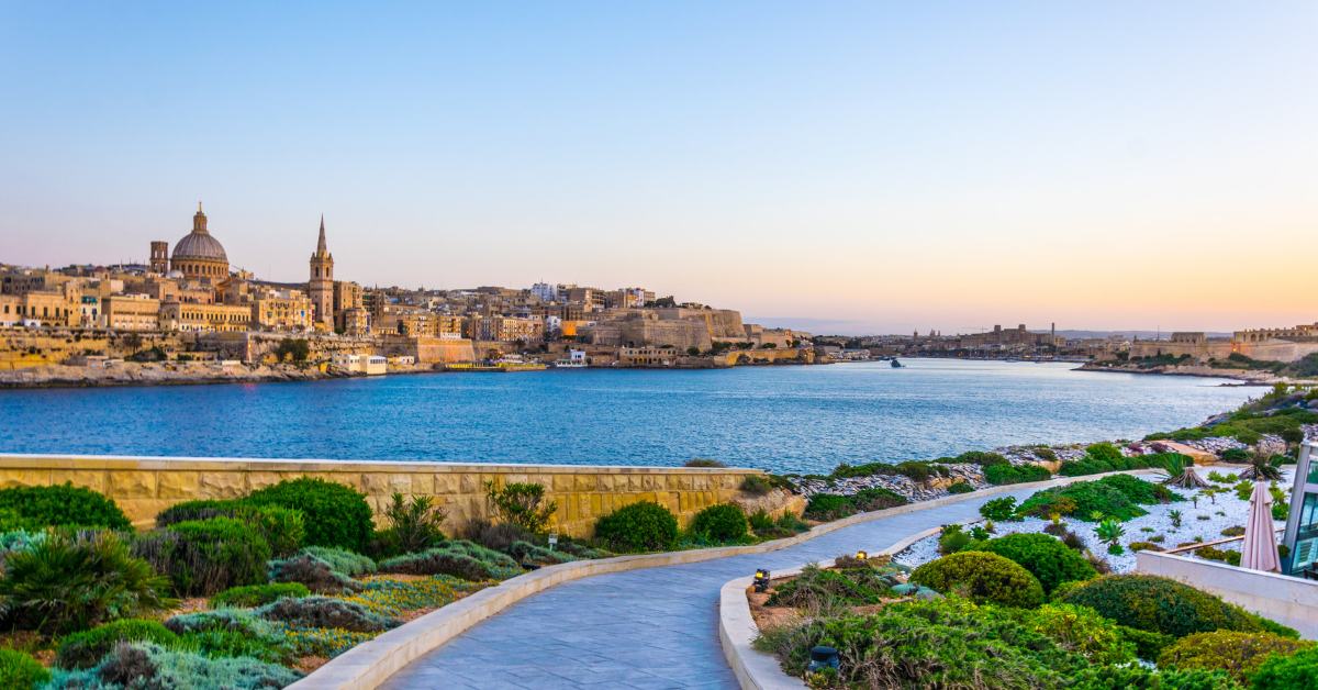 Stunning Valletta viewed from Tigne Point