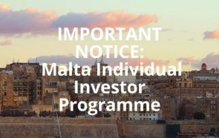 IMPORTANT NOTICE_ Malta Citizneship by Investment Programme Malta Individual Investor Programme