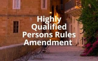 Highly Qualified Persons Rules Amendment 2021