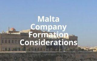 Malta Company Formation Considerations